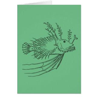 Anglerfish greeting card