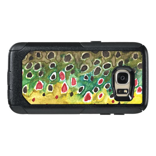 Angler's Brown Trout Skin Fly Fishing OtterBox Samsung