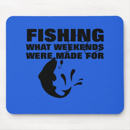 Anglers Fishing Themed Funny Slogan Mouse Mat