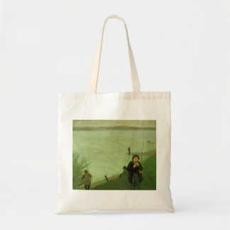 Anglers on the Rhine by August Macke Budget Tote Bag