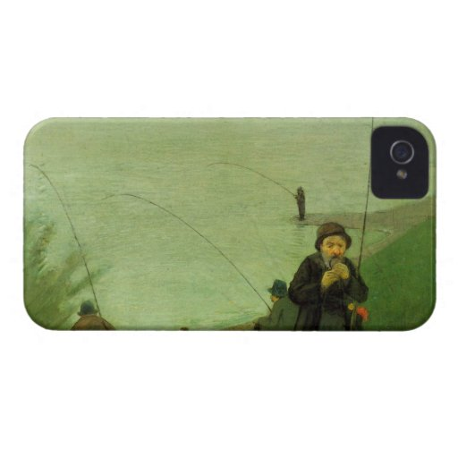 Anglers on the Rhine by August Macke Case-Mate Blackberry Case