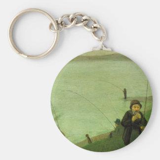 Anglers on the Rhine by August Macke Keychains