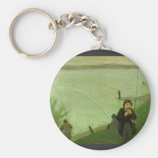 Anglers on the Rhine by August Macke Key Chain