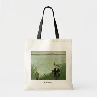 Anglers On The Rhine By Macke August Budget Tote Bag