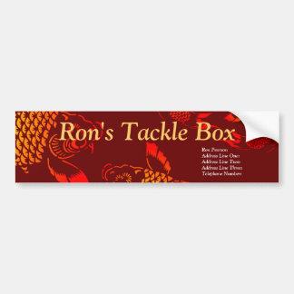 Angler's Tackle Box Sticker- Any Colour! Bumper Sticker
