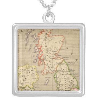 Angleterre, Ecosse & Irlande en 900 Silver Plated Necklace