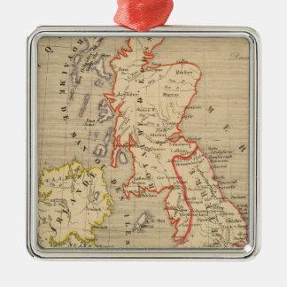 Angleterre, Ecosse, Irlande et Man en 1100 Christmas Ornament