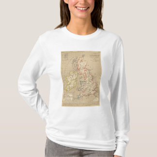 Angleterre, Ecosse, Irlande et Man en 1100 T-Shirt
