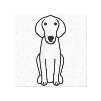 Anglo-Français de Petite Vénerie Dog Cartoon Canvas Print