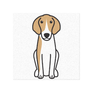 Anglo-Français de Petite Vénerie Dog Cartoon Stretched Canvas Prints