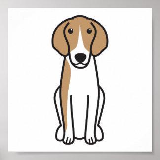 Anglo-Français de Petite Vénerie Dog Cartoon Print