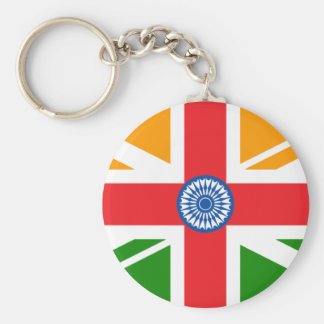 Anglo Indian Flag Basic Round Button Key Ring