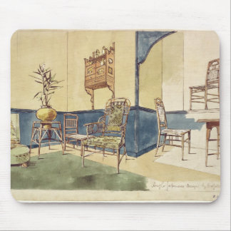 Anglo Japanese style furniture designs by Edward W Mouse Mat