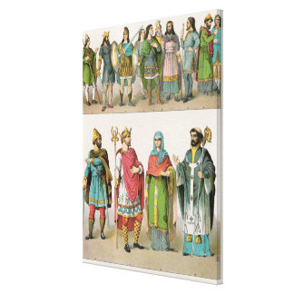 Anglo-Saxon Dress Stretched Canvas Prints