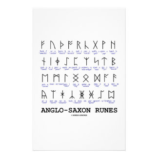 Anglo-Saxon Runes (Linguistics Cryptography) Personalized Stationery