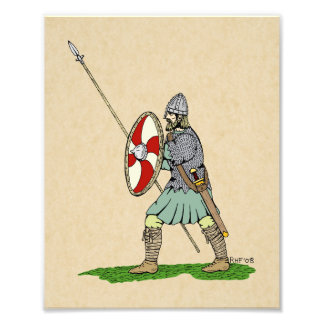 Anglo-Saxon Warrior Photo Print