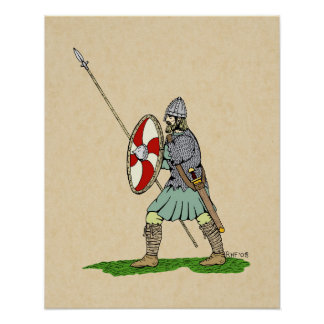 Anglo-Saxon Warrior Poster