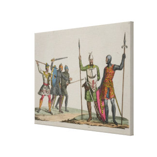 Anglo-Saxon Warriors, plate 14 from 'The History o Canvas Print