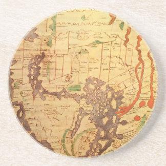 Anglo Saxon World Map Coaster