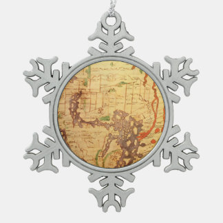 Anglo Saxon World Map Ornaments