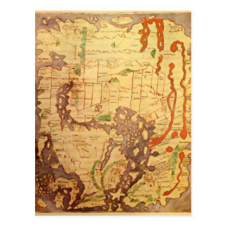 Anglo Saxon World Map Postcard