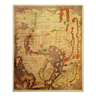 Anglo Saxon World Map Poster