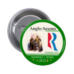 Anglo-Saxons for Romney Ryan 2012 Buttons