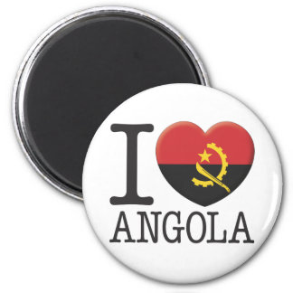 Angola 6 Cm Round Magnet