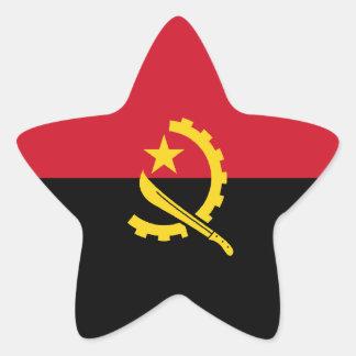 Angola/Angolan Flag Star Stickers