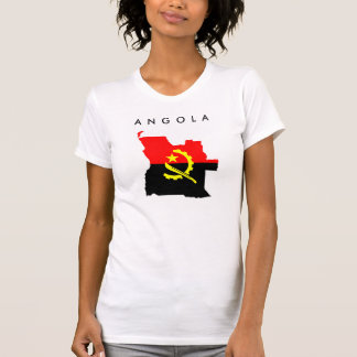 angola country flag map shape symbol silhouette T-Shirt