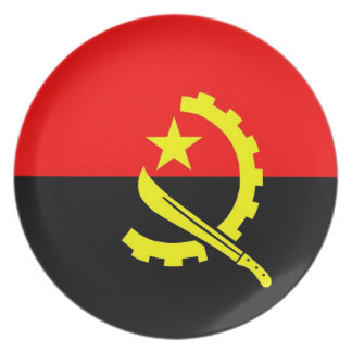 angola country flag plate