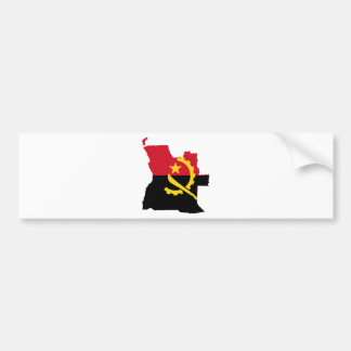 Angola flag map AO Bumper Sticker