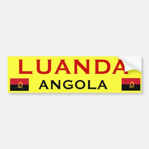 ANGOLA*- Luanda Bumper Sticker*