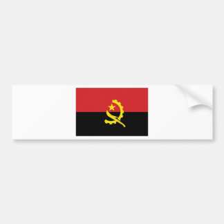 Angola National Flag Bumper Stickers