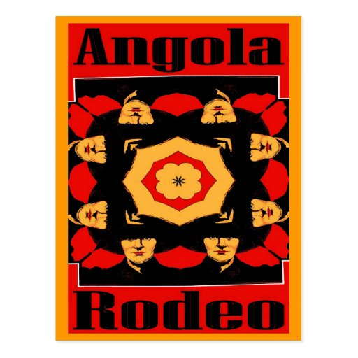 Angola Rodeo Poster Post Cards