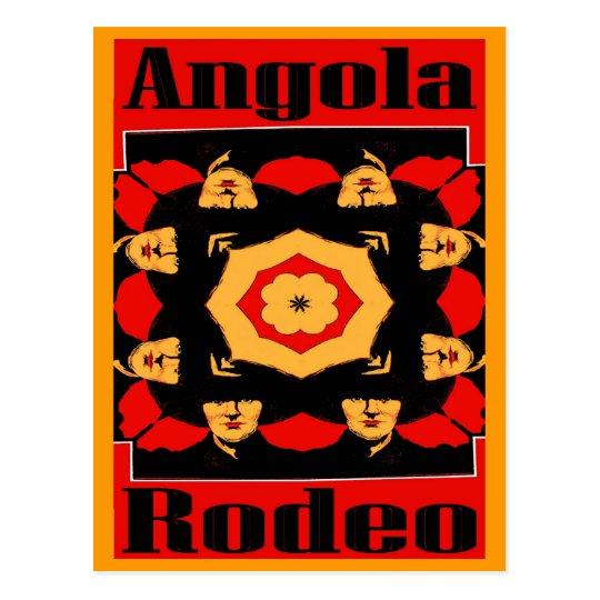 Angola Rodeo Poster Postcard
