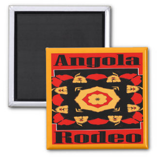 Angola Rodeo Poster Square Magnet