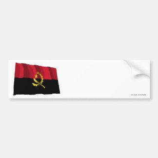 Angola Waving Flag Bumper Stickers
