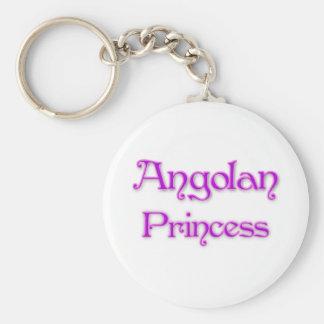 Angolan Princess Basic Round Button Key Ring