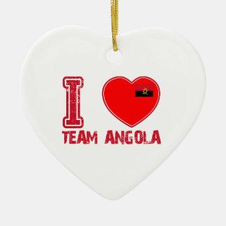angolan team sports designs christmas ornament
