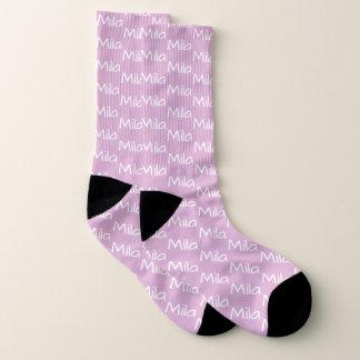 Angora Pink Custom Socks