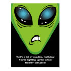 Angry Aliens Birthday Postcard