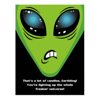 Angry Aliens Birthday Postcard