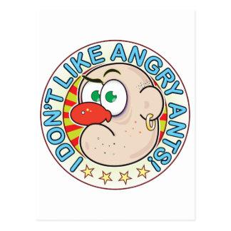 Angry Ants Grumpy Postcard
