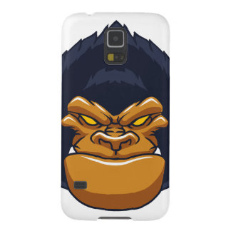 angry ape gorilla face galaxy s5 covers