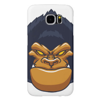 angry ape gorilla face samsung galaxy s6 cases