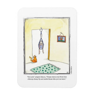 ANGRY BABY cartoon by Ellen Elliott Rectangular Photo Magnet