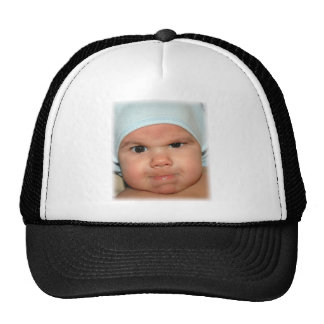 Angry baby expression trucker hat