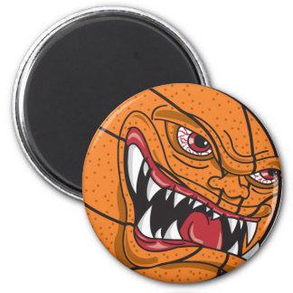 angry basketball magnet