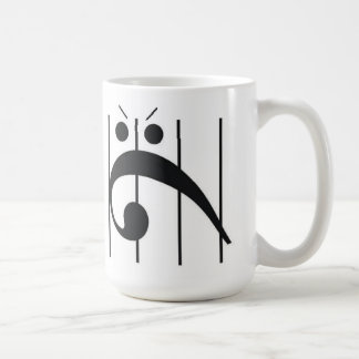 Angry Bass Clef Trapped Classic White Coffee Mug